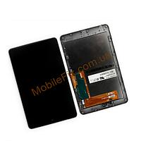 Дисплей Asus ME370 Google Nexus 7 +  тачскрин (1 поколение 2012), чёрный, с передней панелью