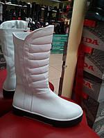 Белые полусапоги женские  демисезонные, кожаные  LEXI