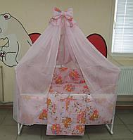 Полный набор для сна ребенка. 25 предметов! Кроватка с ящиком + матрас + постельный комплект 9 в1
