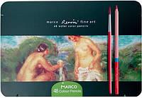 """Цветные карандаши Marco Акварельные """"Renoir Fine Art"""" 48 цветов, ТМ Марко, FineArt-48AQUA-tn"""