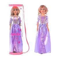 Очаровательная кукла Defa 8058, 79 см, в коробке 82,5х23,5х16 см, фиолетовое вечернее платье