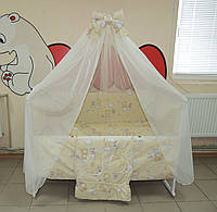 Полный набор для сна с детской кроваткой из 25 предметов! Кроватка с выдвижным ящиком + Постельное