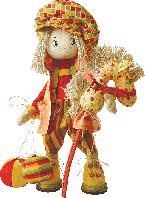"""Текстильная каркасная кукла """"Шалун"""""""