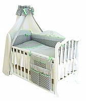 Детская постель в кроватку с балдахином Premium P-001