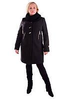 Женское элегантное зимнее пальто больших размеров (р. XL-4XL) арт. Палермо донна хомут зима
