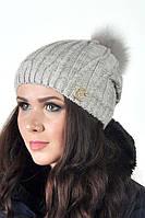 Красивая женская шапка ArtBelleza Катрина с бубоном
