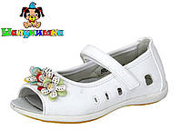 Белые туфли ТМ Шалунишка на девочку