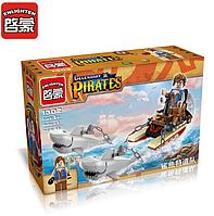 Конструктор Brick 1302 Legendary Pirates Дрейфуя с акулами 45 дет 