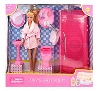 Ванная комната для кукол DEFA 8215: аксессуары, сантехника, коробка 36,5х34,5х11 см