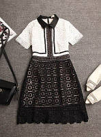 Платье женское SELF PORTRAIT из плотного хлопкового кружева