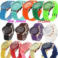 Модные наручные женские силиконовые часы Geneva в наличии! Хит сезона!