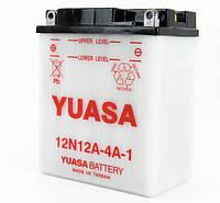 Аккумулятор мотоциклетный 12Ah 120A YUASA 12N12A-4A-1 Honda , Kawasaki