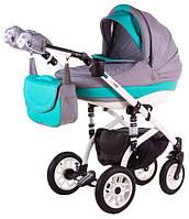 Детская коляска универсальная 2 в 1 Lara кожа 367S Adamex