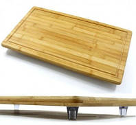 Доска бамбуковая большая на ножках, 50 * 28 * 4 см