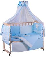 Комплект детского постельного в манеж Qvatro Lux Украина 60179, мишка на облаке