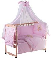 Комплект детского постельного в манеж Qvatro Lux Украина 60367, мишка