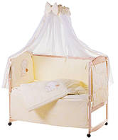 Комплект детского постельного в манеж Qvatro Украина 76552, ангел с сердцем