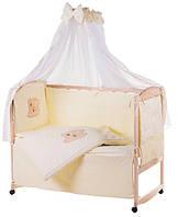 Комплект детского постельного в манеж Qvatro Украина 76553, мишка штопаный