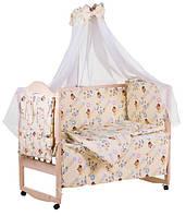 Комплект детского постельного в манеж Qvatro Lux Украина 60877, Винни - Пух