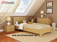 Кровать Венеция Люкс односпальная Бук Щит 102 (Эстелла-ТМ)