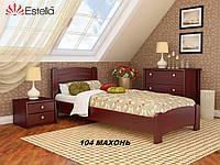 Кровать Венеция Люкс односпальная Бук Щит 104 (Эстелла-ТМ)