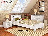 Кровать Венеция Люкс односпальная Бук Щит 107 (Эстелла-ТМ)