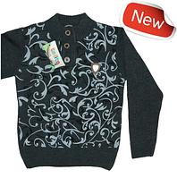 Теплый свитер для мальчика трикотаж вязка
