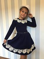"""Платье для девочек """"Кружева"""",размеры 128 - 146 см"""