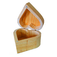 Заготовка Шкатулка-сердечко, 9х6х9 см, Идейка, LY1013-110