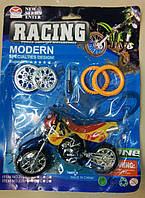 "Конструктор "" мотоцикл"" с отверткой, съемными дисками  и колесами"