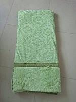 Покрывало искусственный мех (травка) с узором салатовый