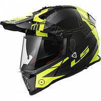 Эндуро шлем LS2 MX436 Pioneer TRIGGER Black Hi-Vis Yellow