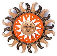 Зеркало в раме настенное Солнце