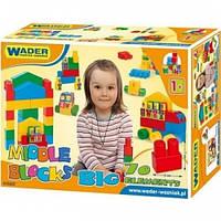 Конструктор большой 70 элементов в коробке Wader, 41560, Вадер для детей