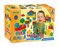 Конструктор Супер большой 140 элементов в коробке Wader, 41570, Вадер для детей