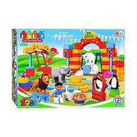 Конструктор Зоопарк Happy Zoo JDLT 5093, 72 детали, качественный пластик, совместим с Лего Дупло, 3+