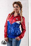 Женская ветровка спортивная легкая Adidas 5015 батал рус.