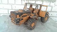 Игрушка машинка трактор большой бронза СССР