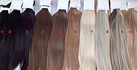 Волосы на заколках клипсах,РЕАЛЬНЫЕ ФОТО! 10-12прядей! НАЛИЧИЕ! Термоволокно! накладные пряди