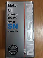 Масло моторное синтетическое Nissan 5W30 SN (Ниссан) 4л.- производства Германии