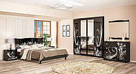 Спальня Ева, чёрный глянец (Мебель-Сервис)