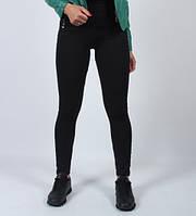 Лосины женские утепленные черного цвета.