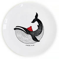 Тарелка Сытый кит на Подарок