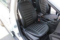 Чехлы на сидения из экокожи Hyundai Accent 2010+ Хюндай Акцент
