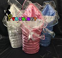 Конверт для новорожденных на выписку и в коляску на синтепоне атласный розовый