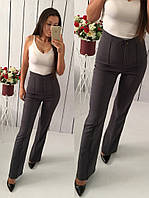 Женские молодежные брюки с высокой талией. Разные цвета.