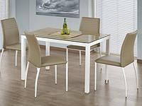 Стеклянный стол Halmar Timber с прямоугольной столешницей