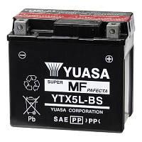 Аккумулятор мотоциклетный 4Ah 80A YUASA YTX5L-BS Honda , Suzuki , Yamaha , KTM , KTM ATV , HUSQVARNA , APRILIA