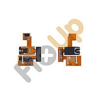 Шлейф с разъемом зарядки, разъемом наушников и микрофоном для LG P970