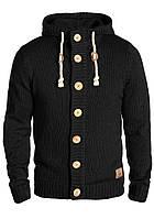 Мужской черный свитер куртка с капюшоном Peer от !Solid  в размере M